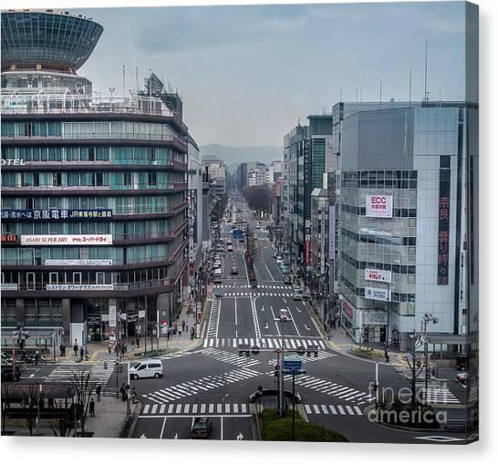 Urban Avenue, Kyoto Japan Canvas Print
