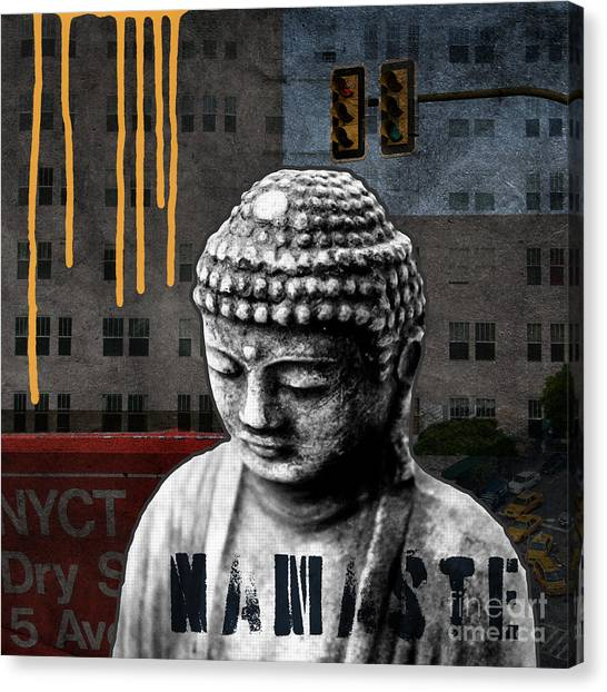 Traffic Canvas Print - Urban Buddha  by Linda Woods