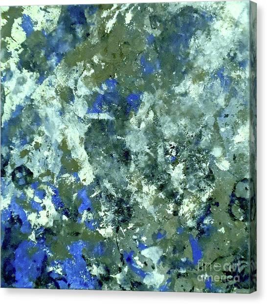 Blue Camo Canvas Print - Urban Camouflage by Jilian Cramb - AMothersFineArt