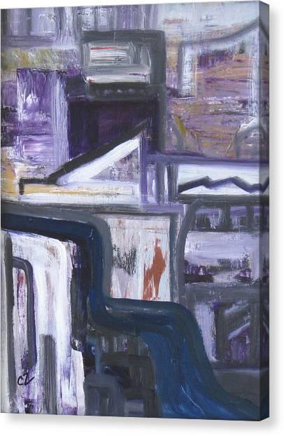 Urban Canyon Canvas Print