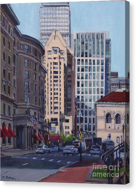 Urban Canyon - Saint James Street, Boston Canvas Print