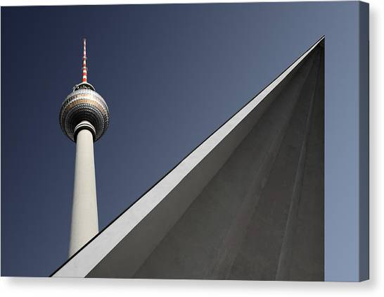 Berlin Canvas Print - Urban Geometry by Markus Kuhne