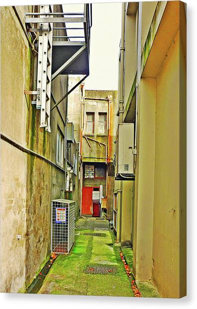 Urban Landscape-blind Alley Canvas Print by Kenneth William Caleno