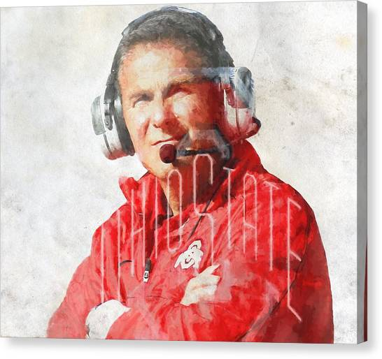 Bachelor Canvas Print - Urban Meyer by Dan Sproul