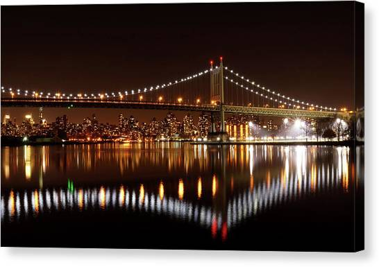 Triboro Bridge Brilliance Canvas Print