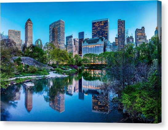 New York Skyline Canvas Print - Urban Oasis by Az Jackson
