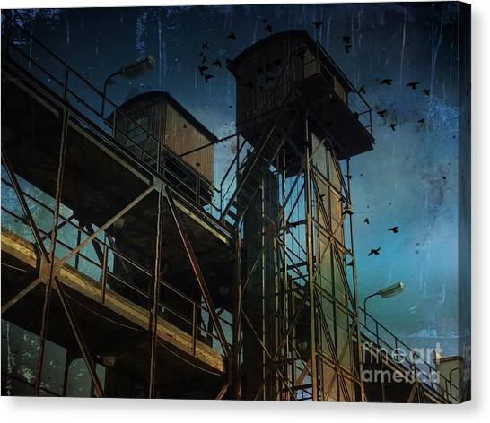Canvas Print featuring the photograph Urban Past by Ivana Westin