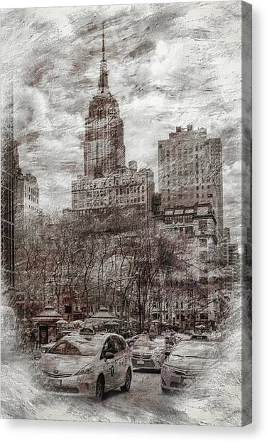 Empire State Building Canvas Print - Urban Rush by Az Jackson