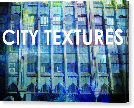 Urban Textures Blue Broadway Canvas Print