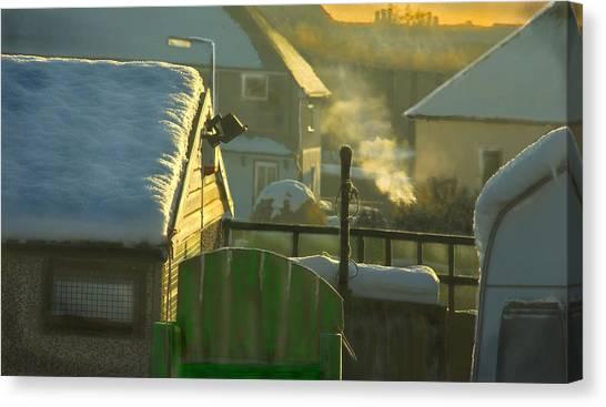 It Professional Canvas Print - Urban Winter Landscape Uk by Aleck Rich Seddon