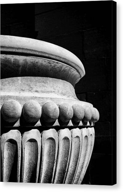 Canvas Print featuring the photograph Urn At The Cathedral by Dutch Bieber