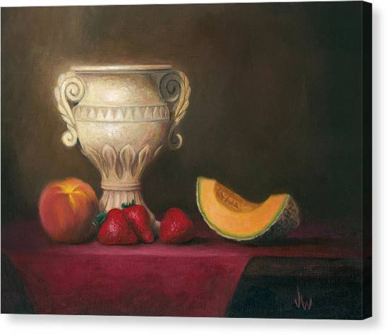 Urn With Fruit Canvas Print
