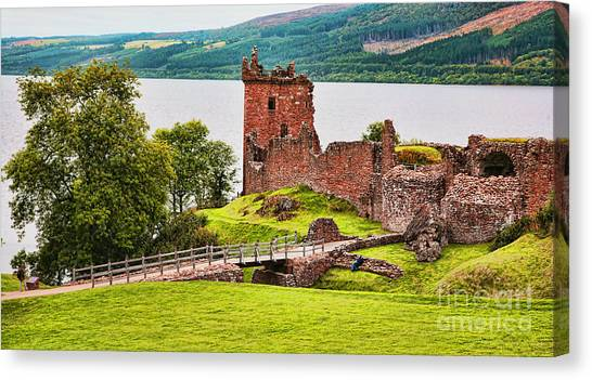 Urquhart  Castle Scotland Canvas Print