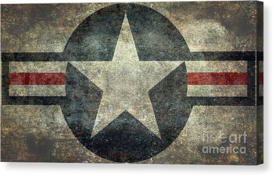 Us Air Force Roundel With Star Canvas Print
