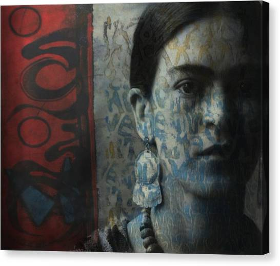 Painters Canvas Print - Us And Them - Frida Kahlo by Paul Lovering
