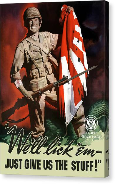Soldiers Canvas Print - Us Army -- World War Two Propaganda by War Is Hell Store