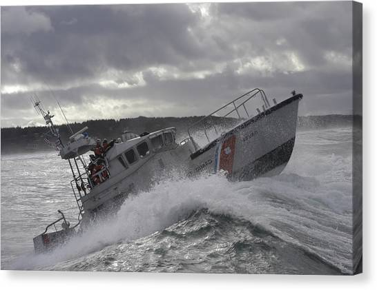 Coast Guard Canvas Print - U.s. Coast Guard Motor Life Boat Brakes by Stocktrek Images