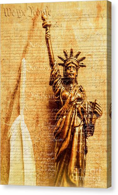 Law Canvas Print - Us Constitution by Jorgo Photography - Wall Art Gallery
