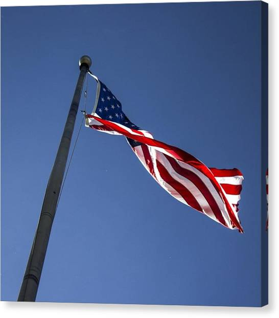 United States Of America Canvas Print - U.s. Flag by Tracey Rees