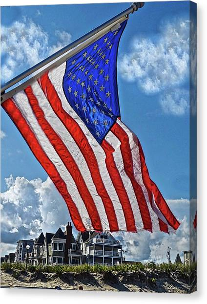 Us Flag,ocean Grove,nj Flag Canvas Print