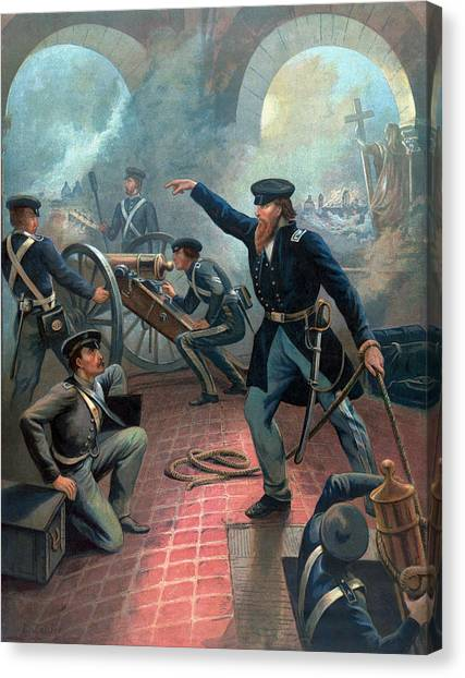 U. S. Presidents Canvas Print - U.s. Grant At The Capture Of The City Of Mexico by War Is Hell Store