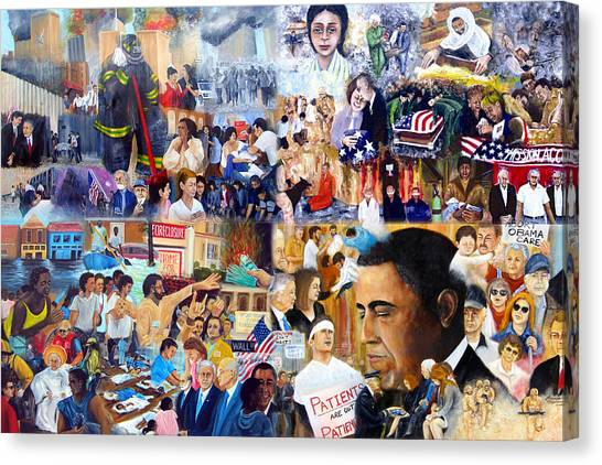 George Bush Canvas Print - Us History The First Ten Years 21st Century by Leonardo Ruggieri