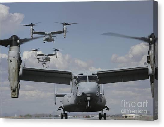 Mv Canvas Print - U.s. Marine Corps Mv-22 Osprey by Stocktrek Images