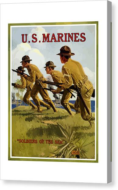 Marines Canvas Print - Us Marines - Soldiers Of The Sea by War Is Hell Store