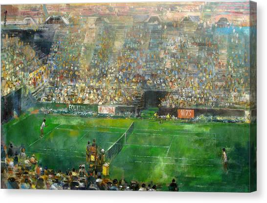 Andre Agassi Canvas Print - Us Open Tennis Center, New York 72 X48 In.  by Hall Groat Sr