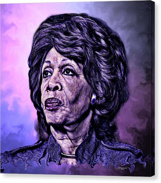 Us Representative Maxine Water Canvas Print