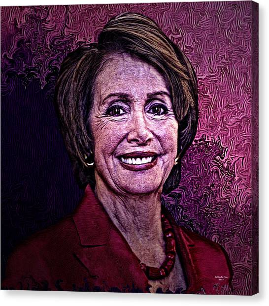 Nancy Pelosi Canvas Print - Us Representative Nancy Pelosi by Artful Oasis
