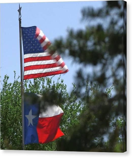 Usa Blesses Texas Canvas Print