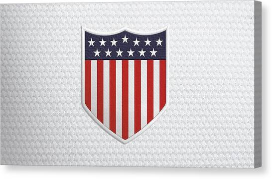 Soccer Teams Canvas Print - Usa Nation Soccer Team by Super Lovely