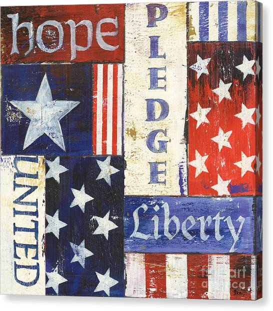 Flag Canvas Print - Usa Pride 1 by Debbie DeWitt