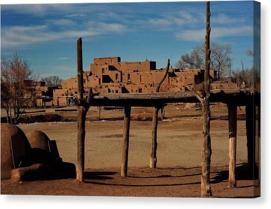 Usa - Taos Pueblo New Mexico Canvas Print by Jacqueline M Lewis