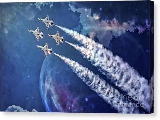 Usaf Thunderbirds Diamond Formation Canvas Print