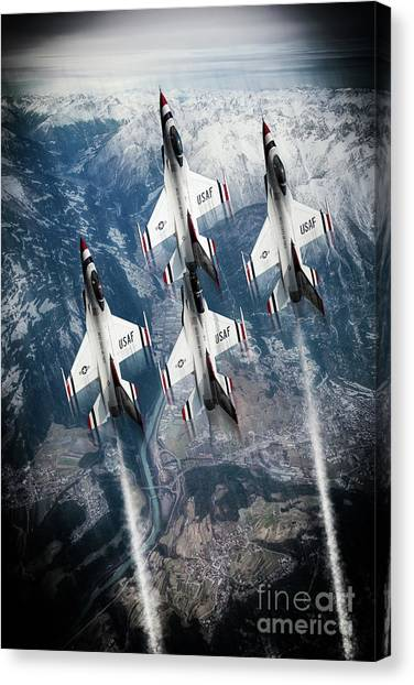 F16 Canvas Print - Usaf Thunderbirds by J Biggadike