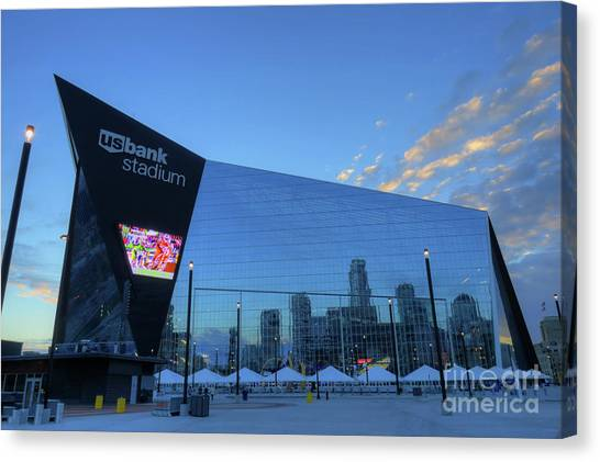 Usbank Stadium Morning Canvas Print