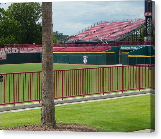 University Of South Carolina Canvas Print - Usc Outfield Bleachers by Terry Cobb