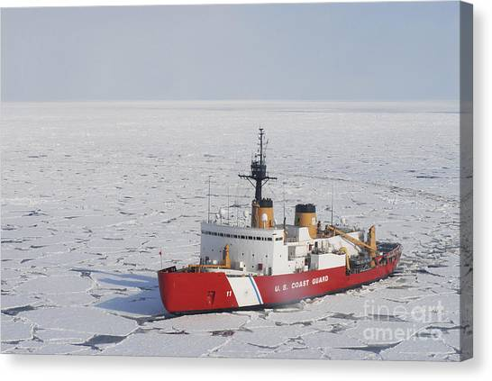 Coast Guard Canvas Print - Uscgc Polar Sea Conducts A Research by Stocktrek Images