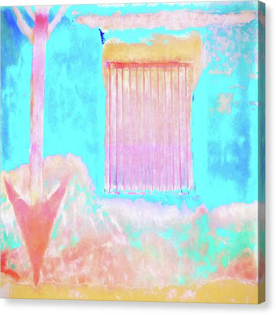 Southwest Canvas Print - Used To Be Larry's Painterly Effect by Carol Leigh