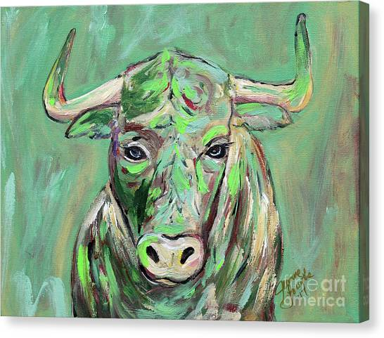 University Of South Florida Canvas Print - Usf Bull by Jeanne Forsythe