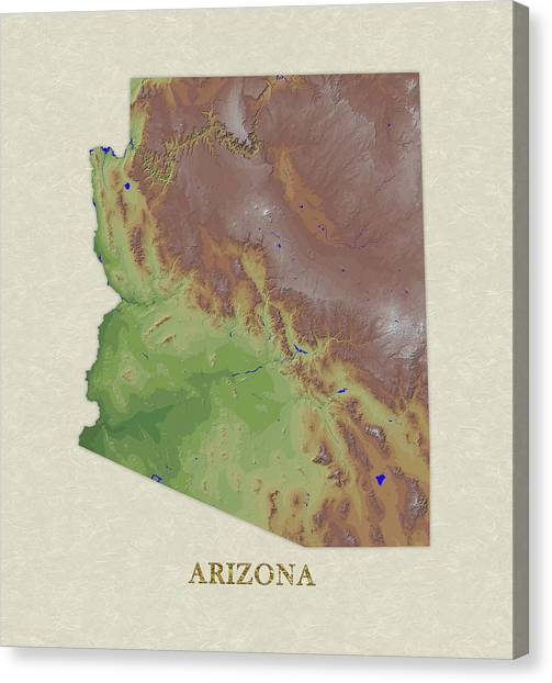 Elevation Map Canvas Prints Page 4 Of 6 Fine Art America