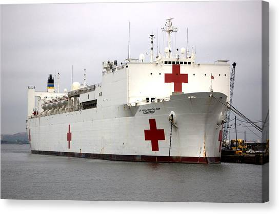 Usns Comfort  Baltimore Maryland Canvas Print by Wayne Higgs