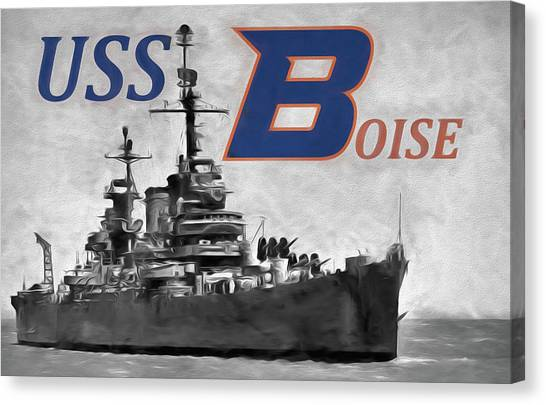 Boise State University Canvas Print - Uss Boise by JC Findley