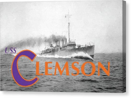 Clemson University Canvas Print - Uss Clemson by JC Findley