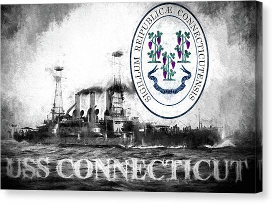 Rotc Canvas Print - Uss Connecticut  by JC Findley