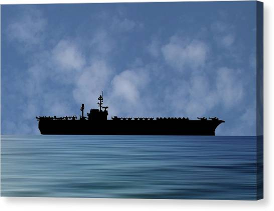 Constellations Canvas Print - Uss Constellation 1956 V1 by Smart Aviation