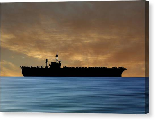 Constellations Canvas Print - Uss Constellation 1956 V2 by Smart Aviation
