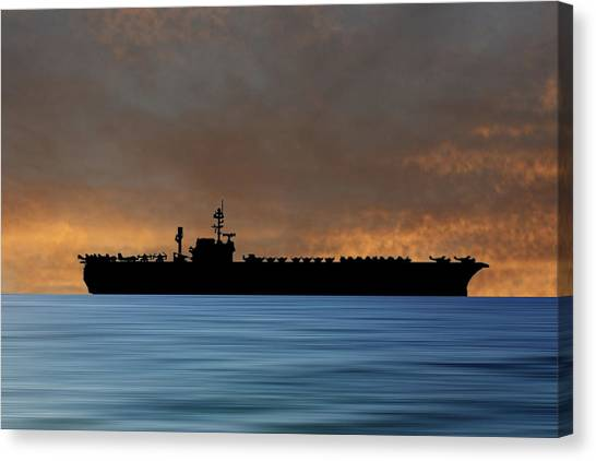 Constellations Canvas Print - Uss Constellation 1956 V3 by Smart Aviation